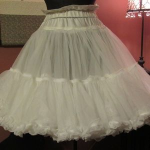 White Organza and Satin Crinoline Petticoat - S/M